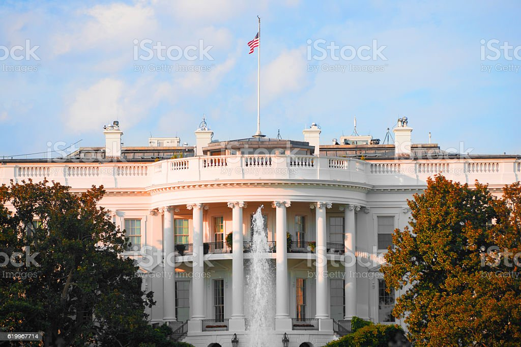 The White House in Washington D.C., USA stock photo