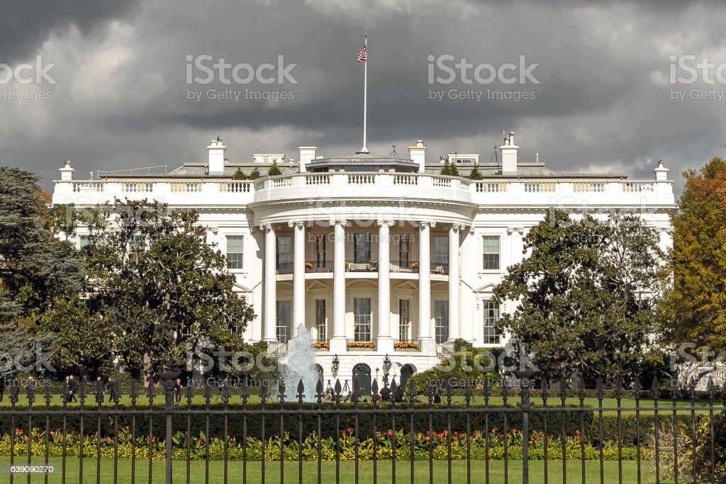 The White House in Washington DC, USA stock photo