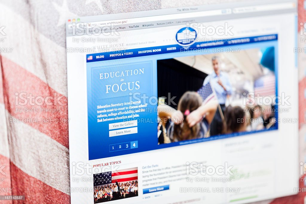 The White House official Website royalty-free stock photo