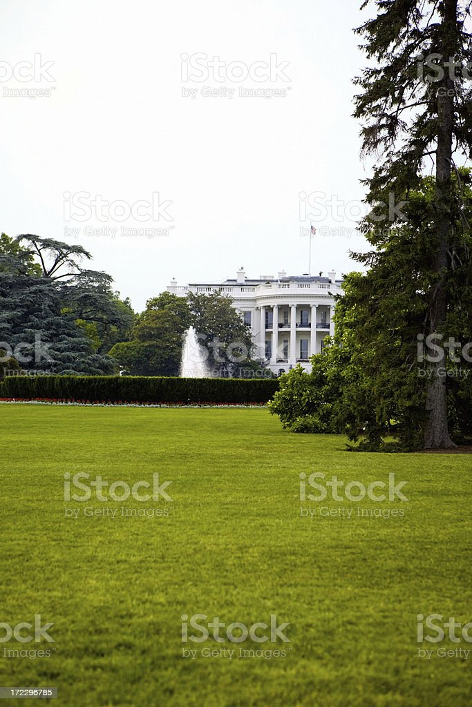 The White House (Back Side) royalty-free stock photo