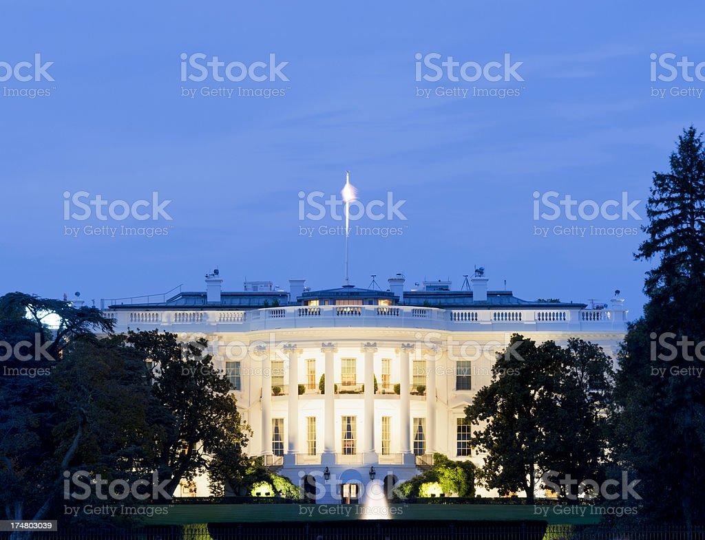 The White House Washington DC at Night USA royalty-free stock photo