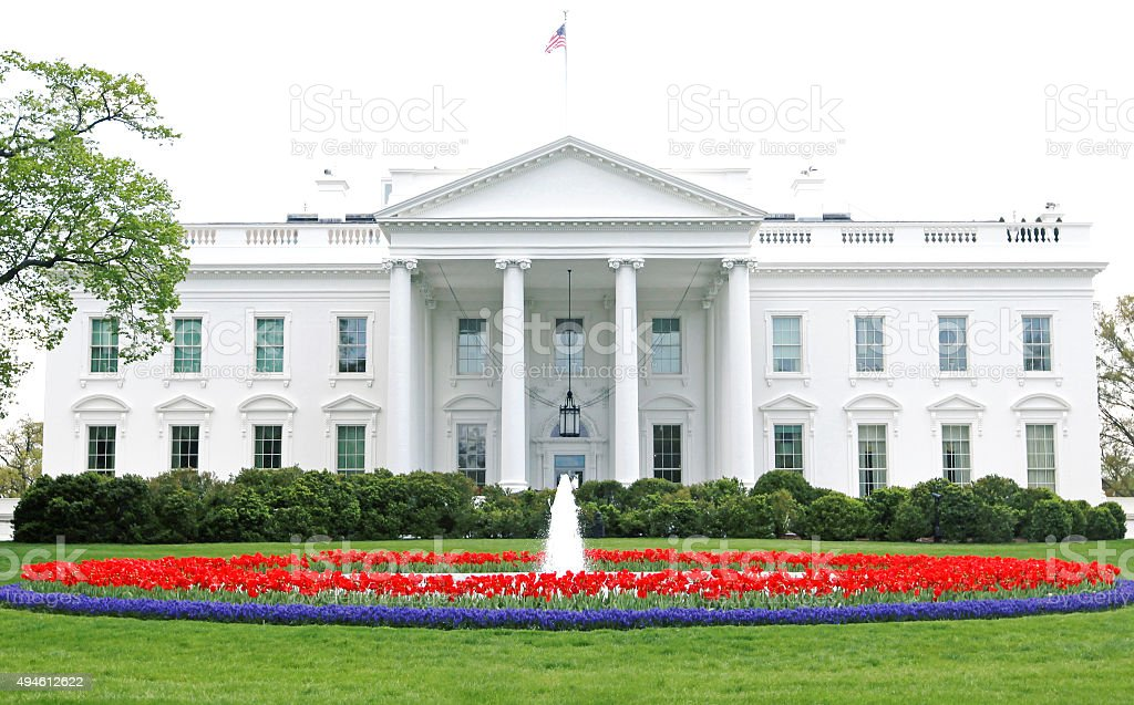 The White House Washington DC NEW stock photo