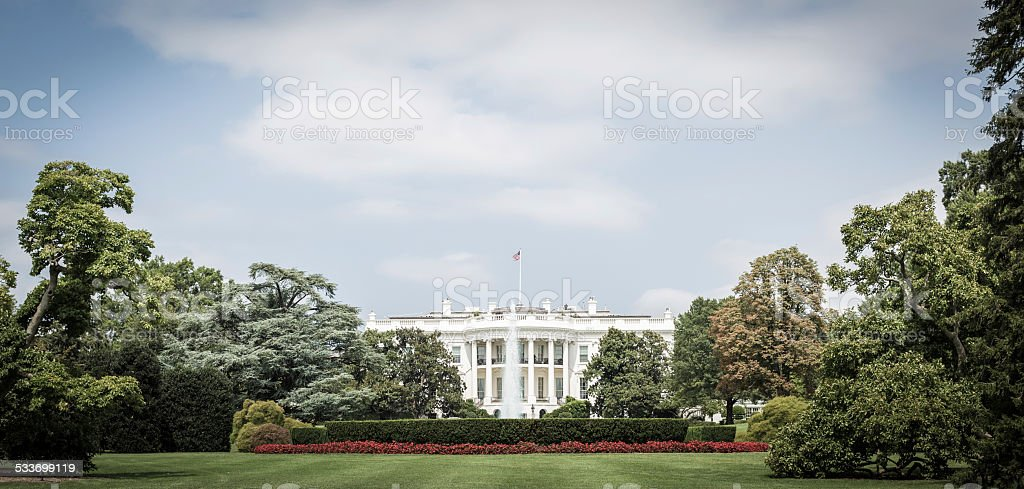 The White House, Washington D.C. stock photo