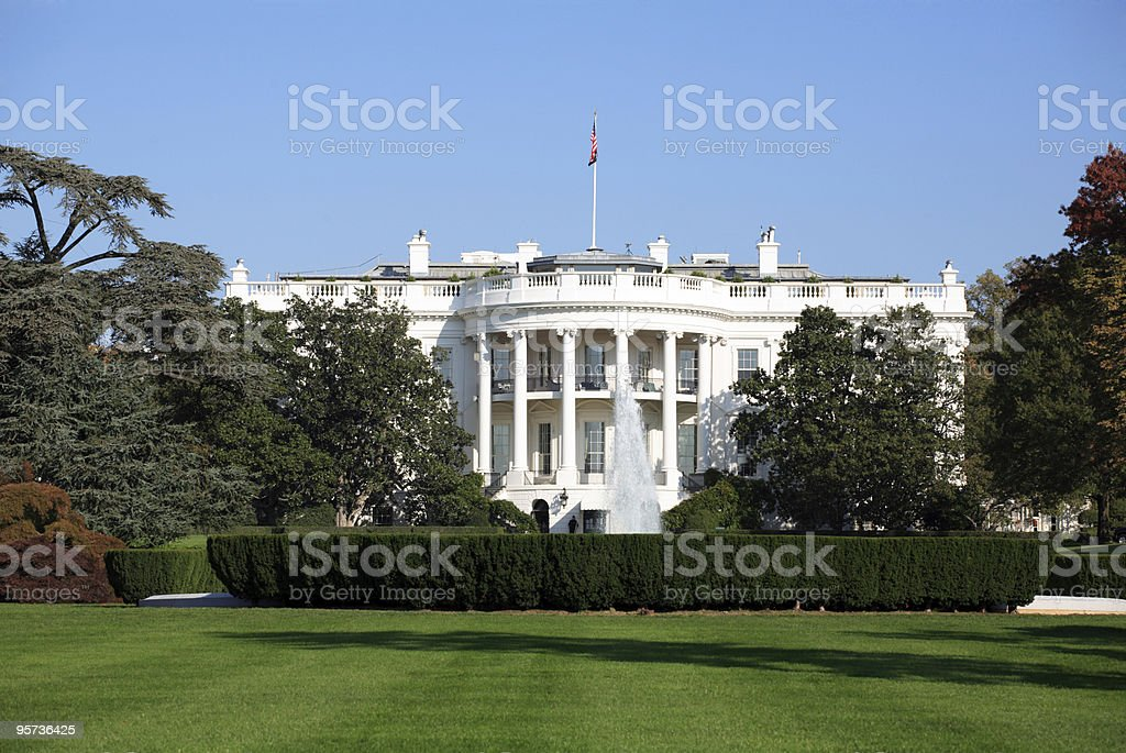 The White House, Washington DC stock photo