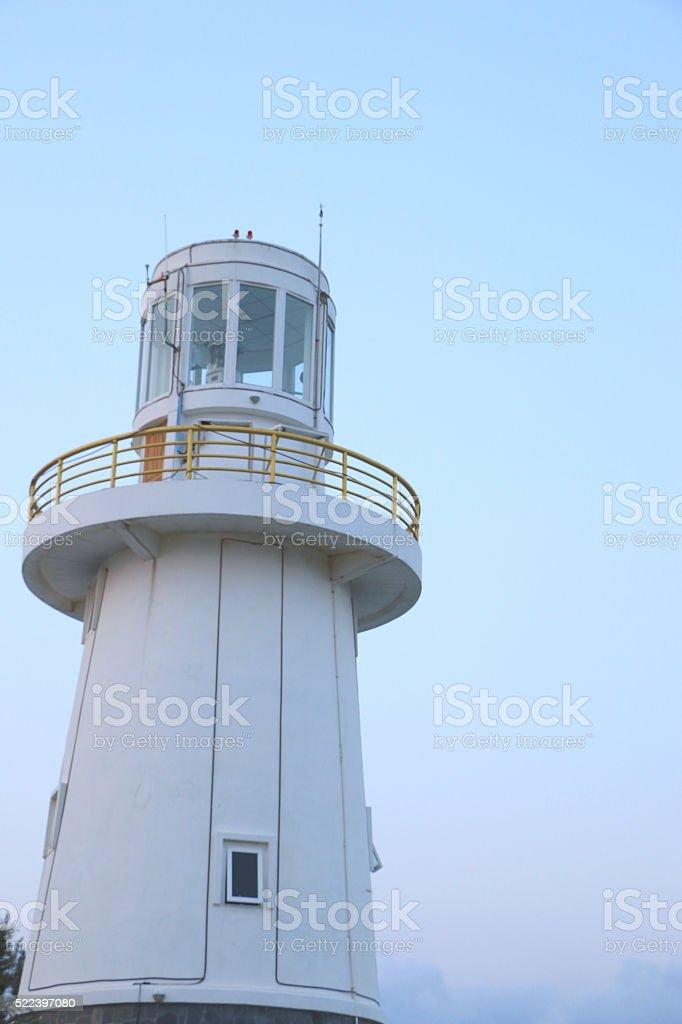 the white lighthouse stock photo