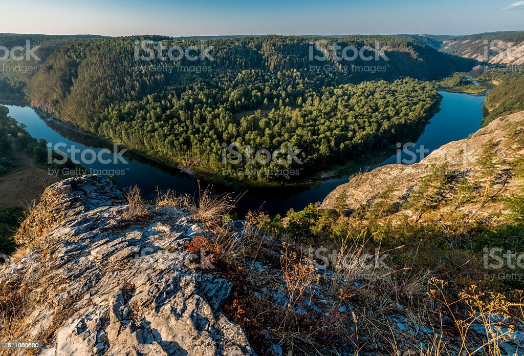 The White River. stock photo