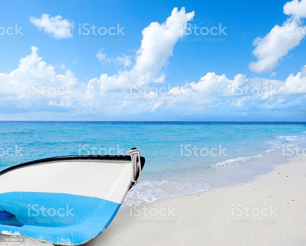 The white sand beach royalty-free stock photo