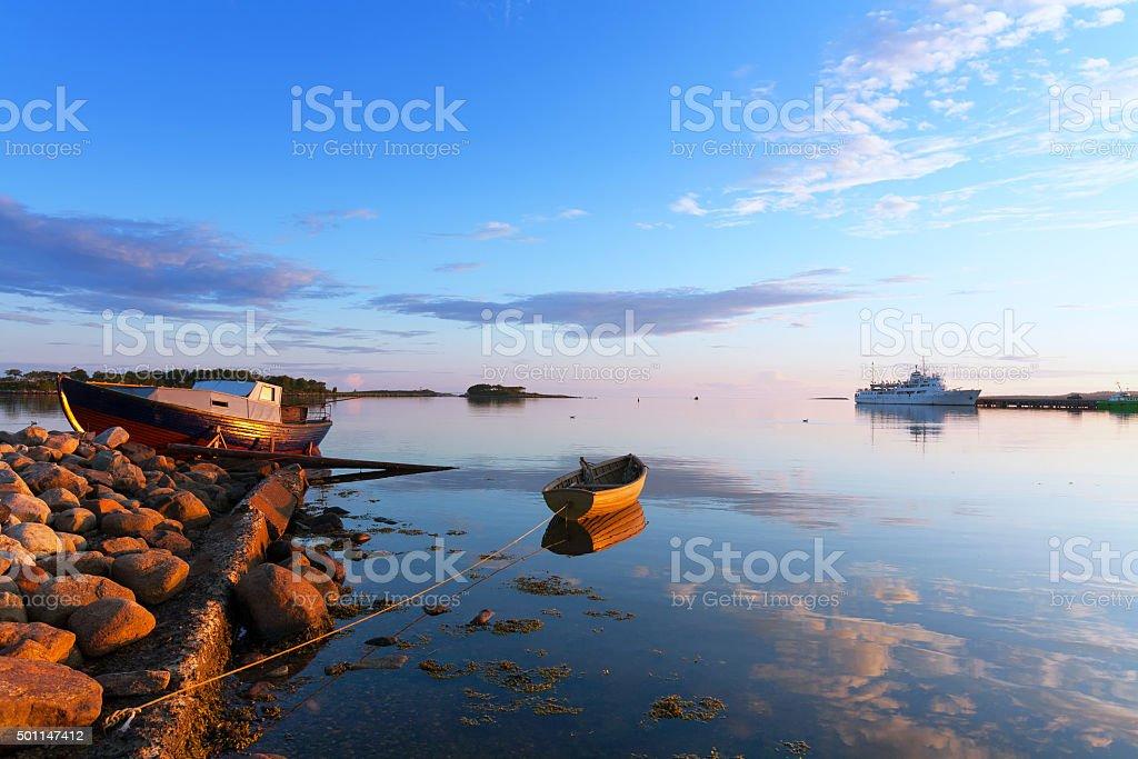 The White Sea. stock photo