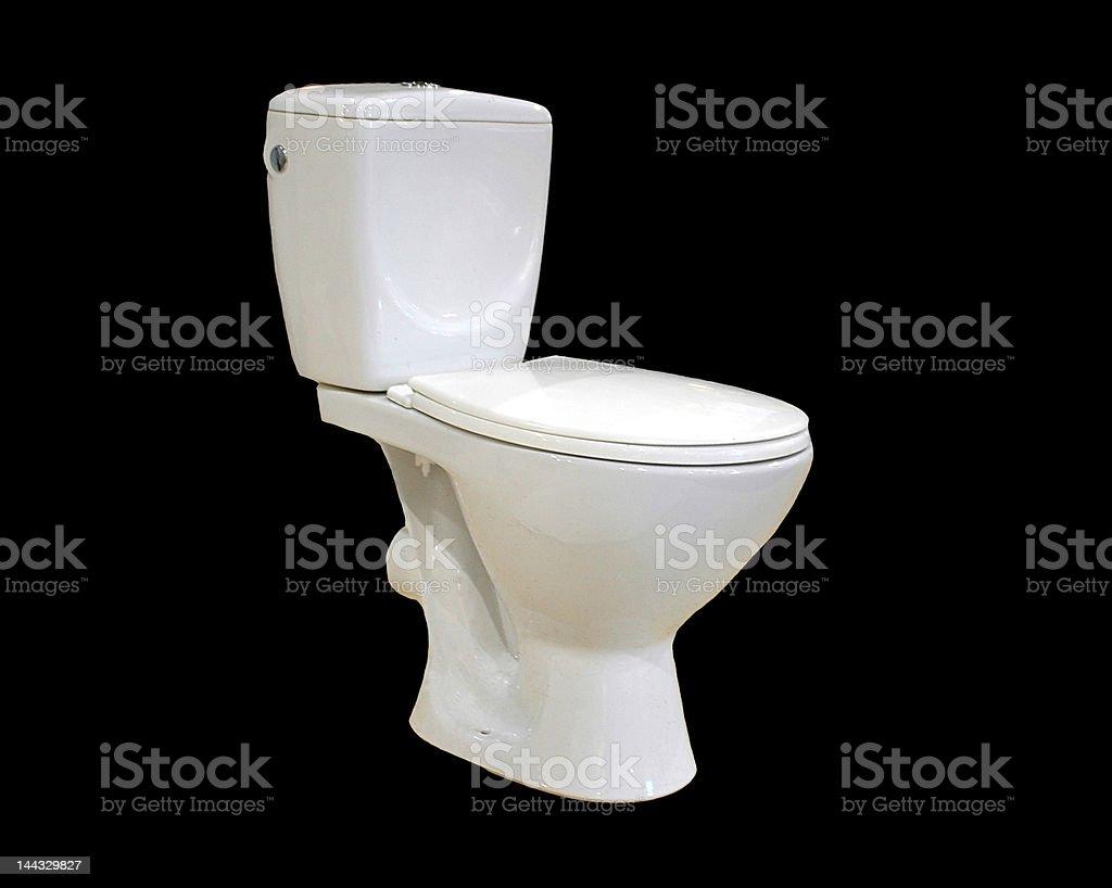 The white toilet bowl stock photo