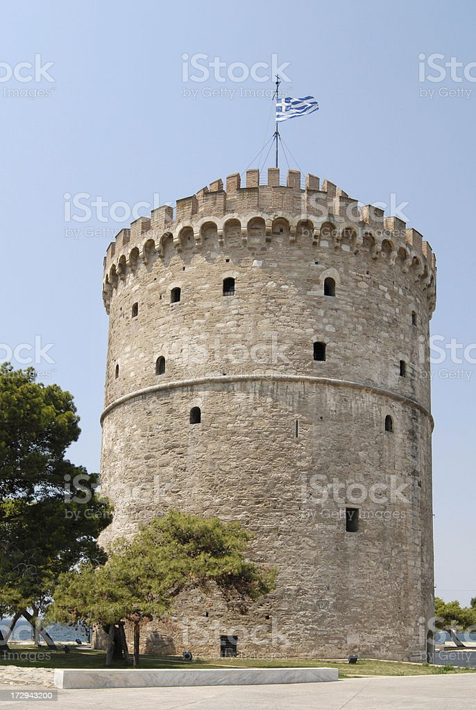 The White Tower of Thessaloniki, Greece stock photo