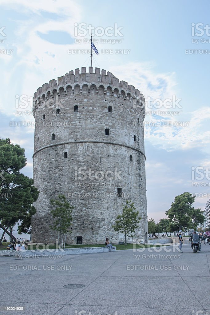 The White Tower of Thessaloniki stock photo