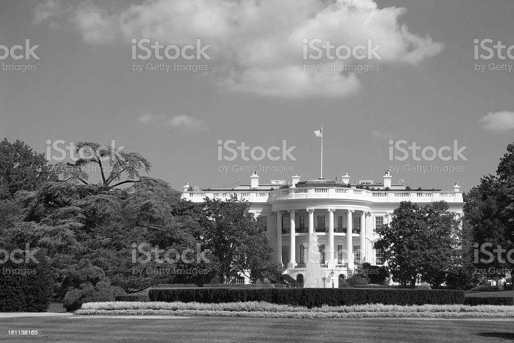 The whitehouse backside B&W royalty-free stock photo