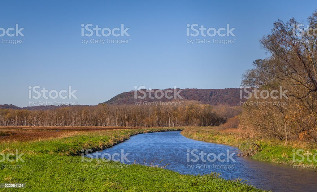 The Whitewater River in Late Autumn stock photo