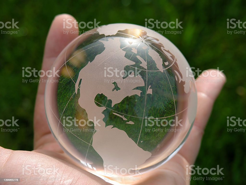 The whole world in my hand stock photo
