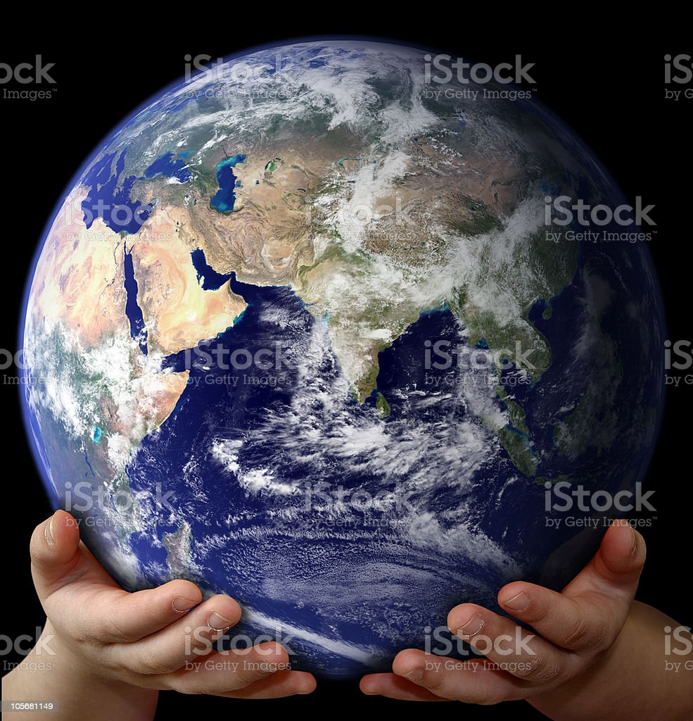 The Whole World in Your Hands royalty-free stock photo