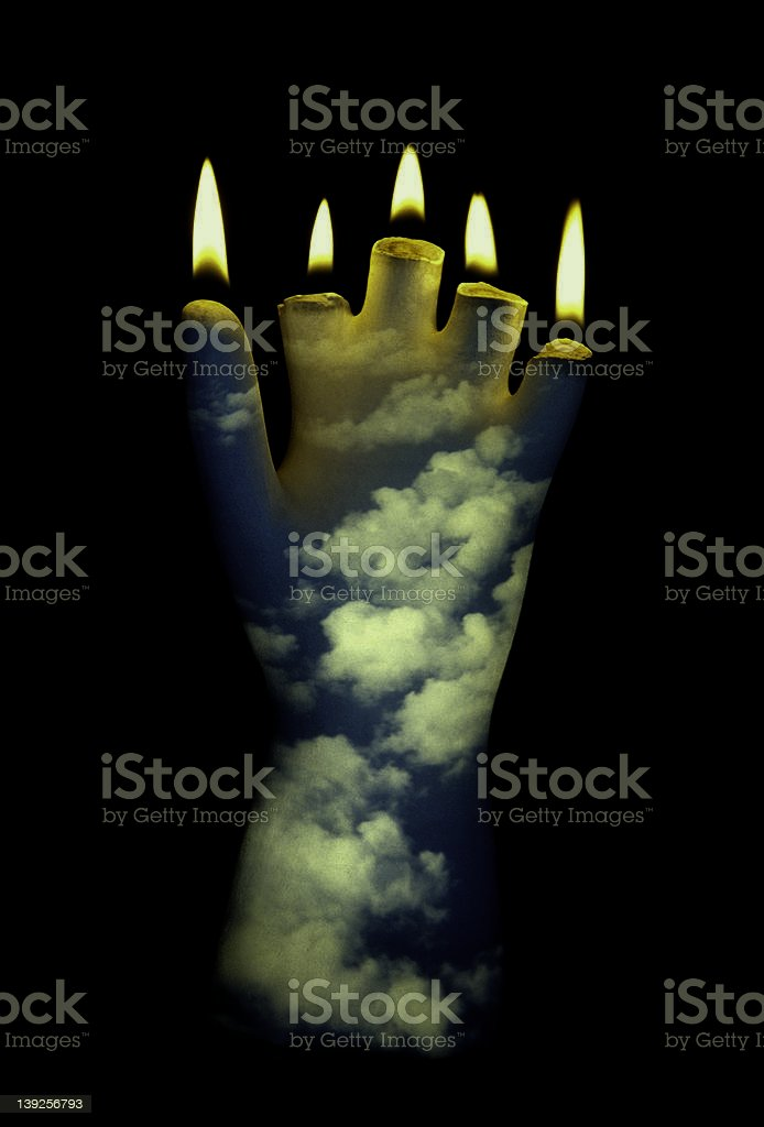 The Wick Effect stock photo