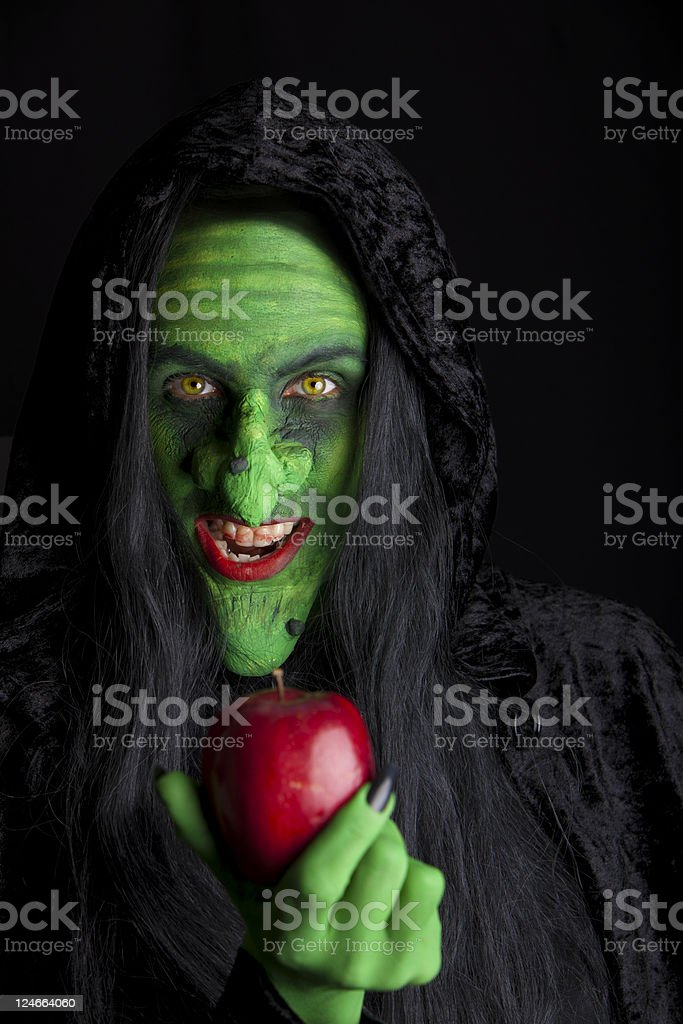 The wicked witch. stock photo
