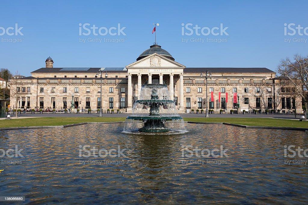 The Wiesbaden Kurhaus stock photo