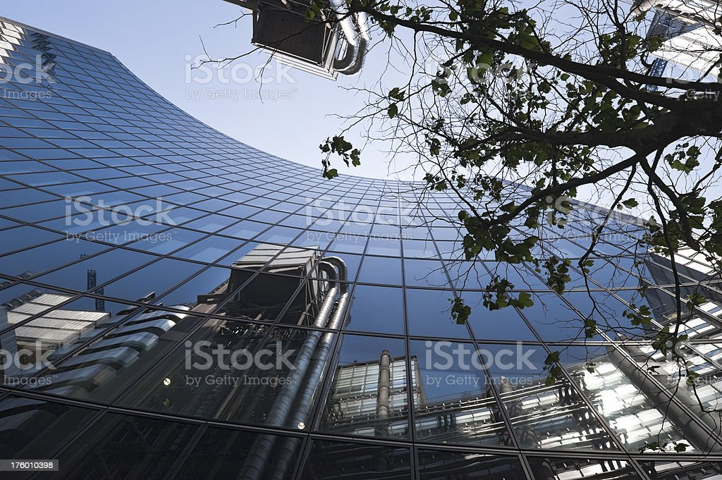 The Willis Building and Lloyd's of London stock photo