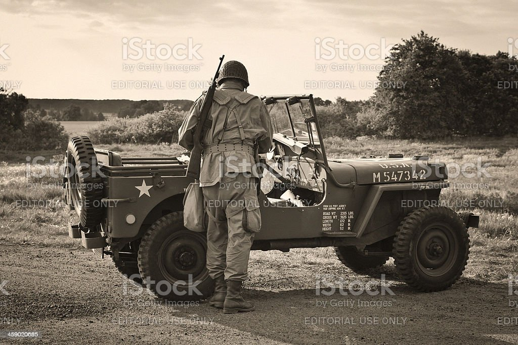 The Willys MB US Army Jeep stock photo