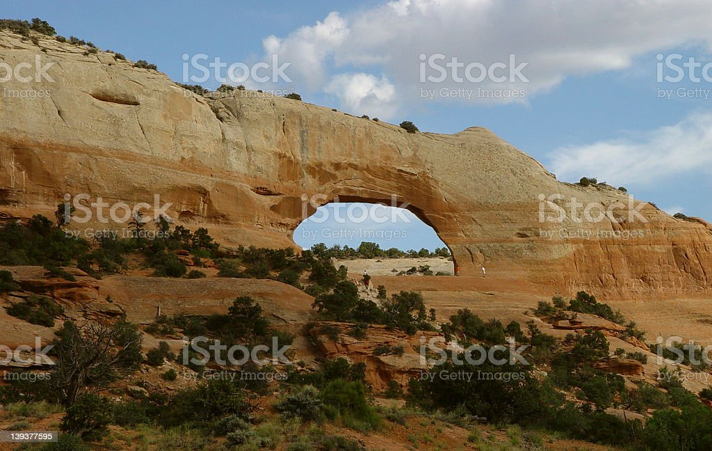 The Wilson Arch. Utah. stock photo