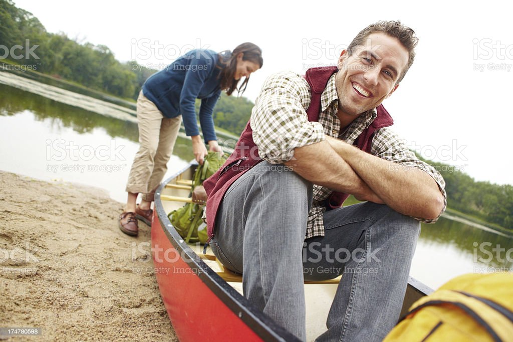 The wind is perfect for a paddle! royalty-free stock photo