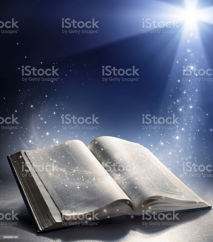 the wind of God's word stock photo
