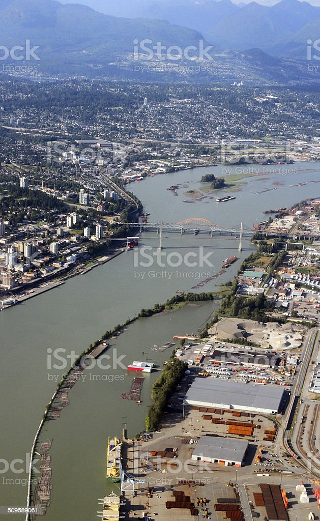 The Winding Fraser royalty-free stock photo