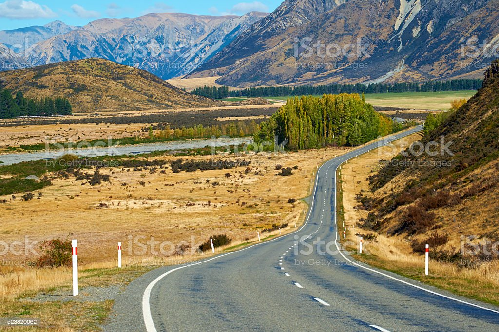 The Winding Road Through Arthur's Pass stock photo