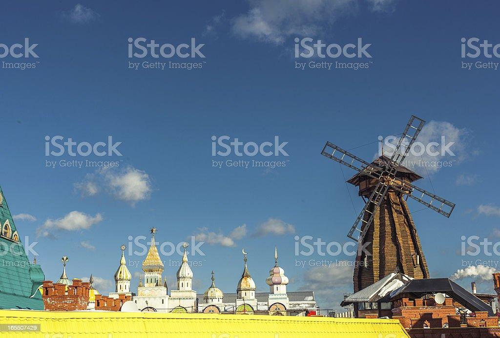 The windmill in Izmailovo Kremlin, Moscow royalty-free stock photo