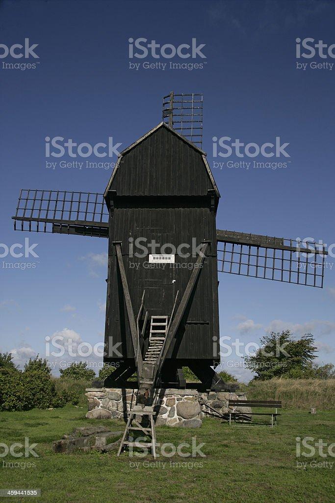 The windmill of Skanor stock photo