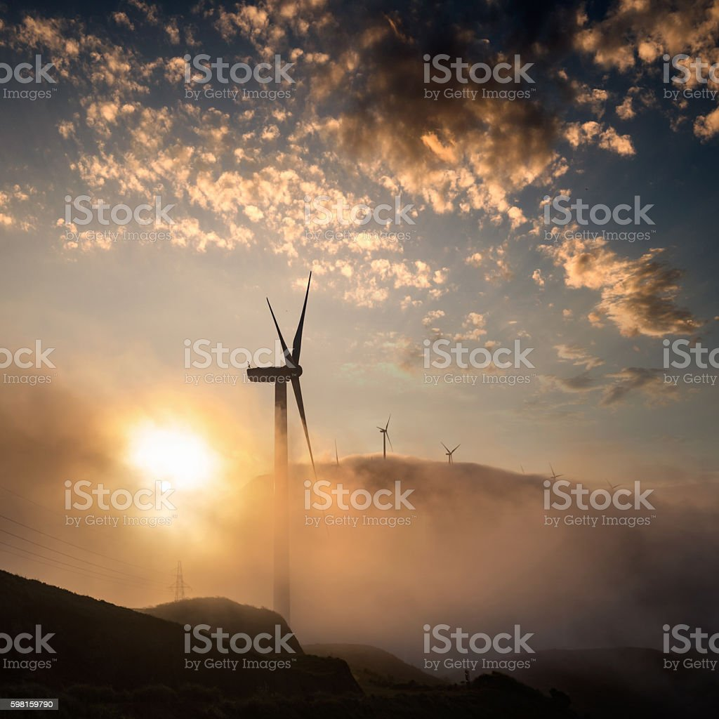 The windmill stock photo