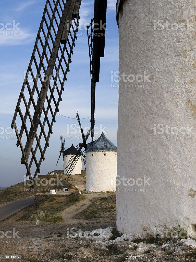 The Windmills at Consuegra, Spain stock photo