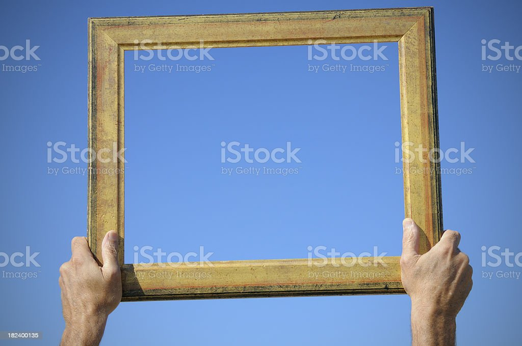 The Window of Opportunity.Copy Space. royalty-free stock photo