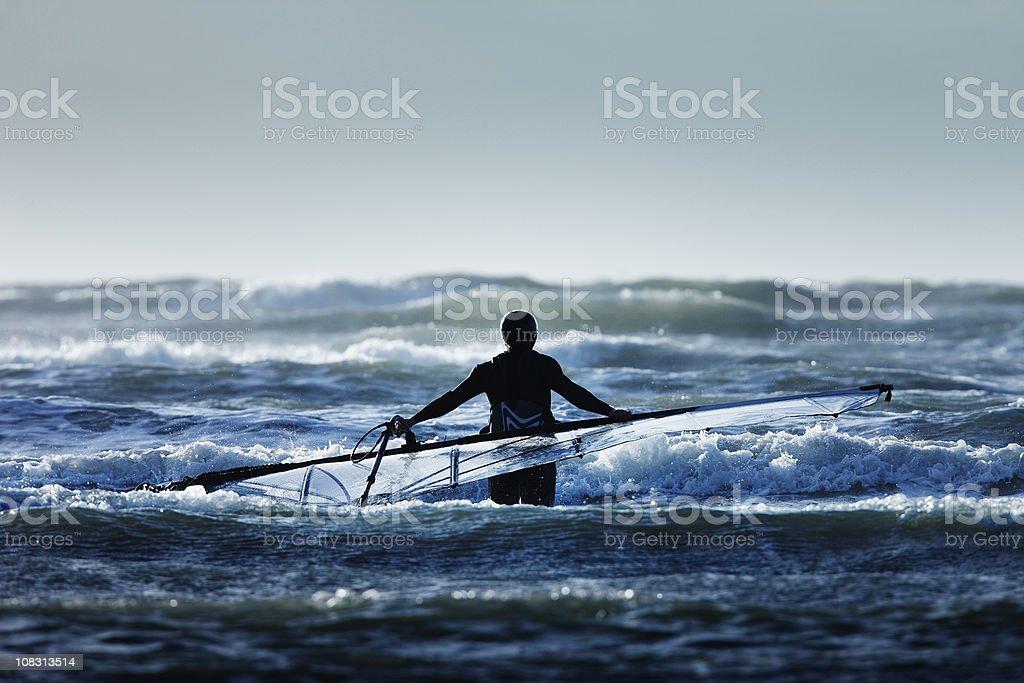 The Windsurfer royalty-free stock photo