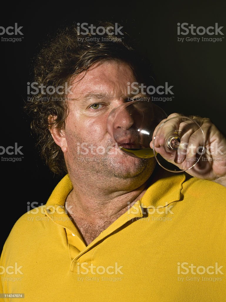The wine drinker royalty-free stock photo
