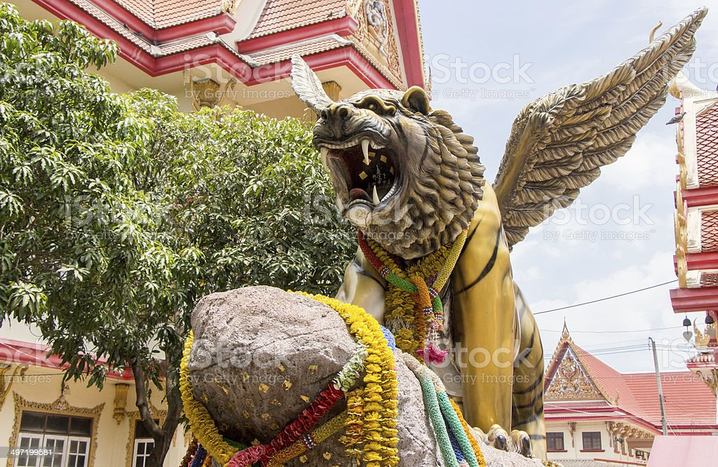 The winged lion stock photo