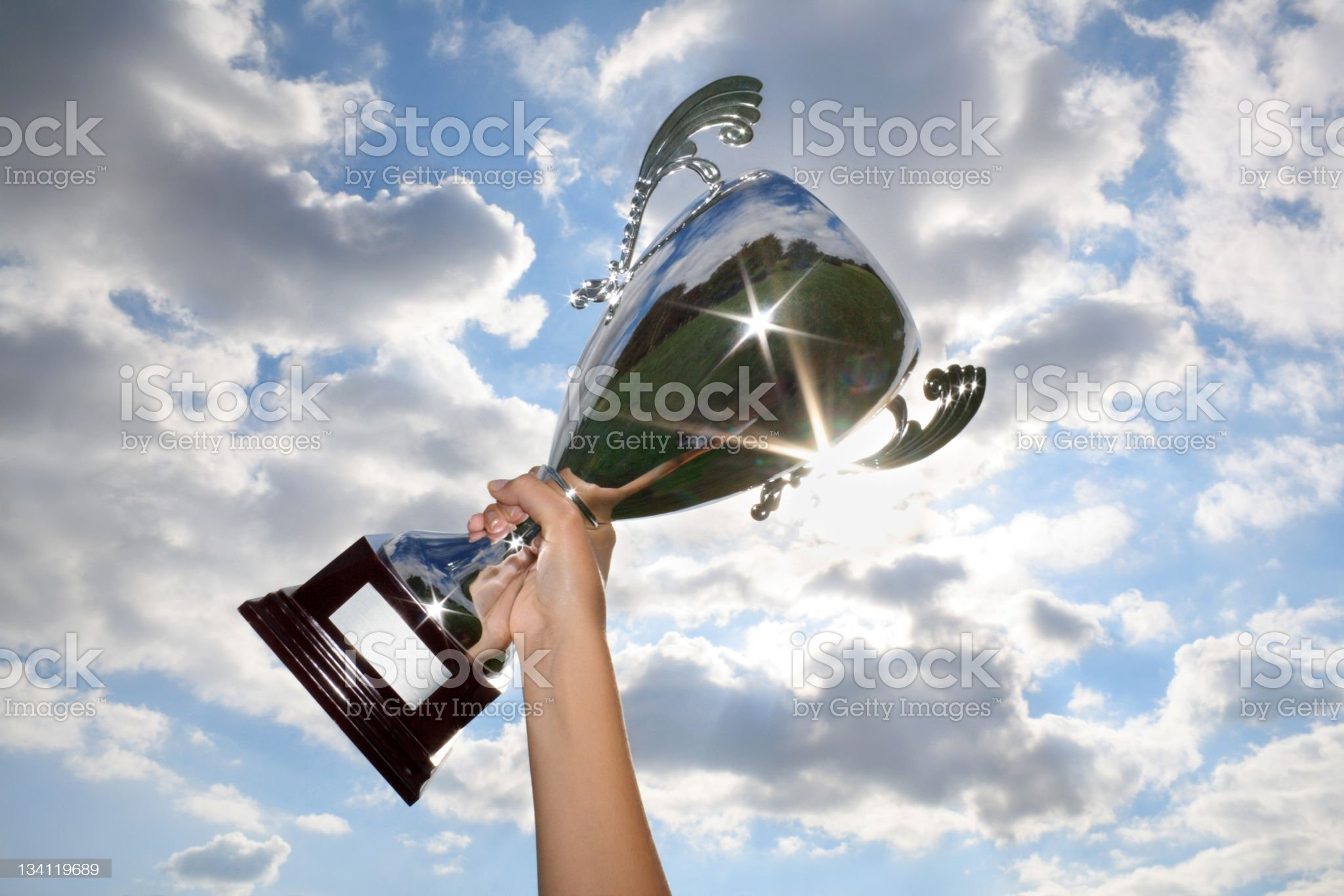 The winner ! royalty-free stock photo