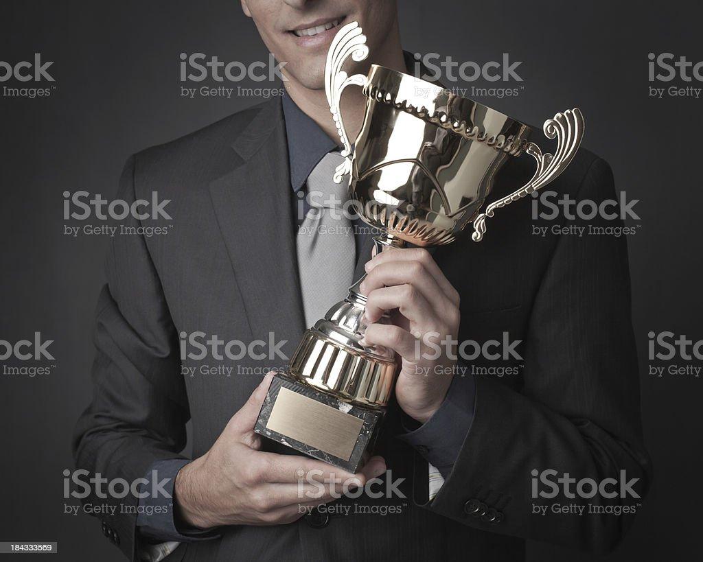The winner royalty-free stock photo