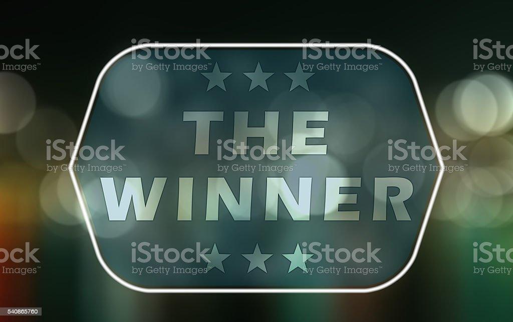 The Winner stock photo