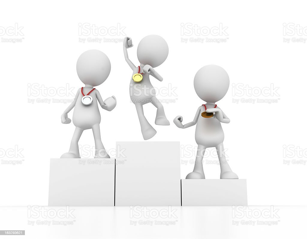 The winners royalty-free stock photo