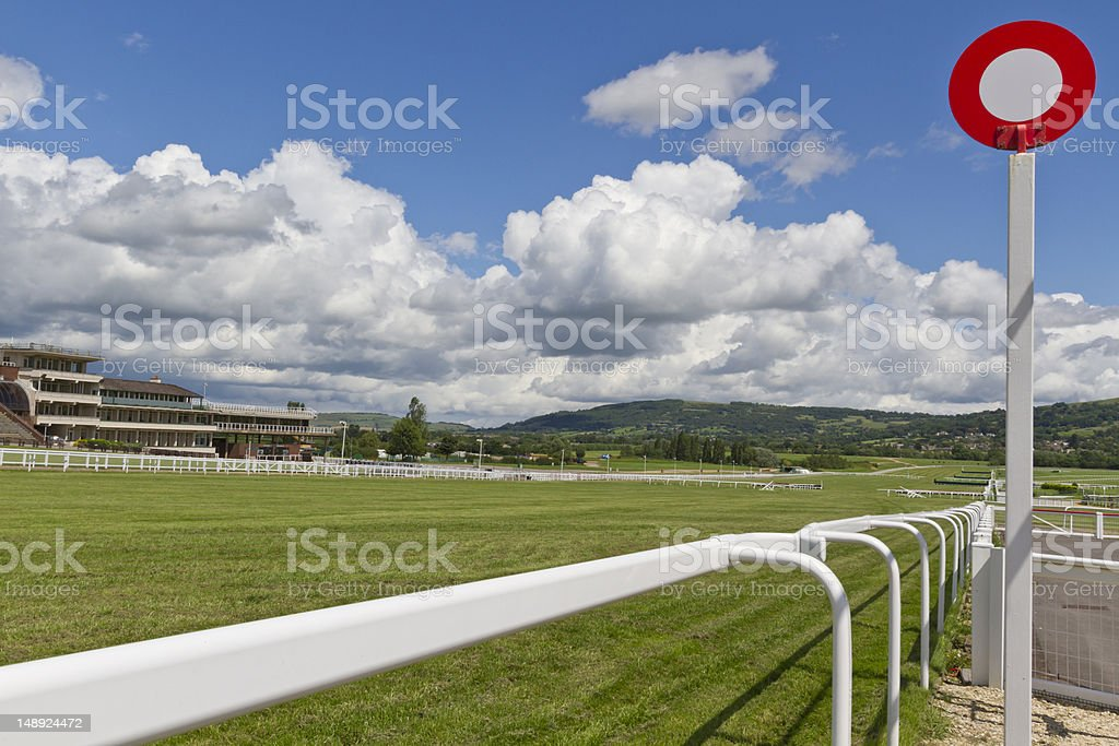 The winning post stock photo