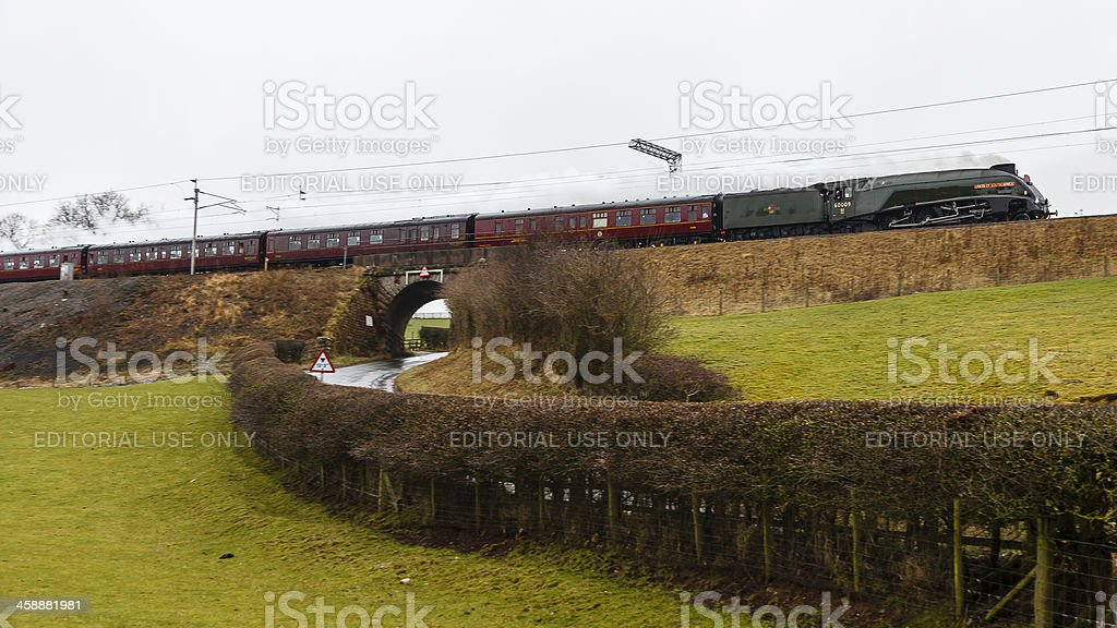 The Winter Cumbrian Mountain Express royalty-free stock photo