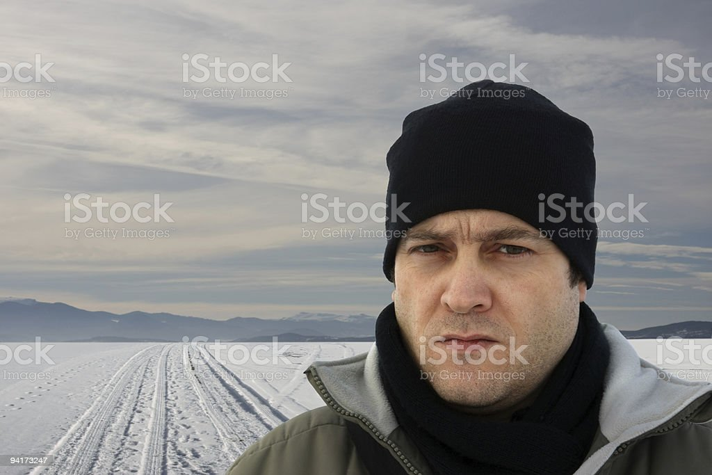The Winter Man royalty-free stock photo