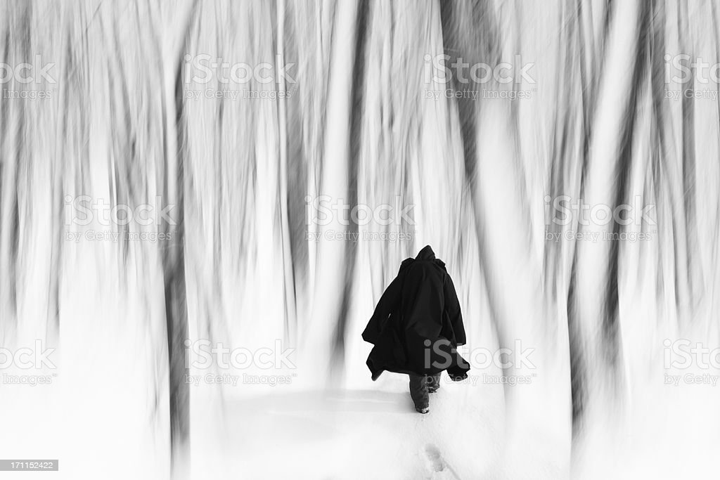 The winter of my discontent stock photo