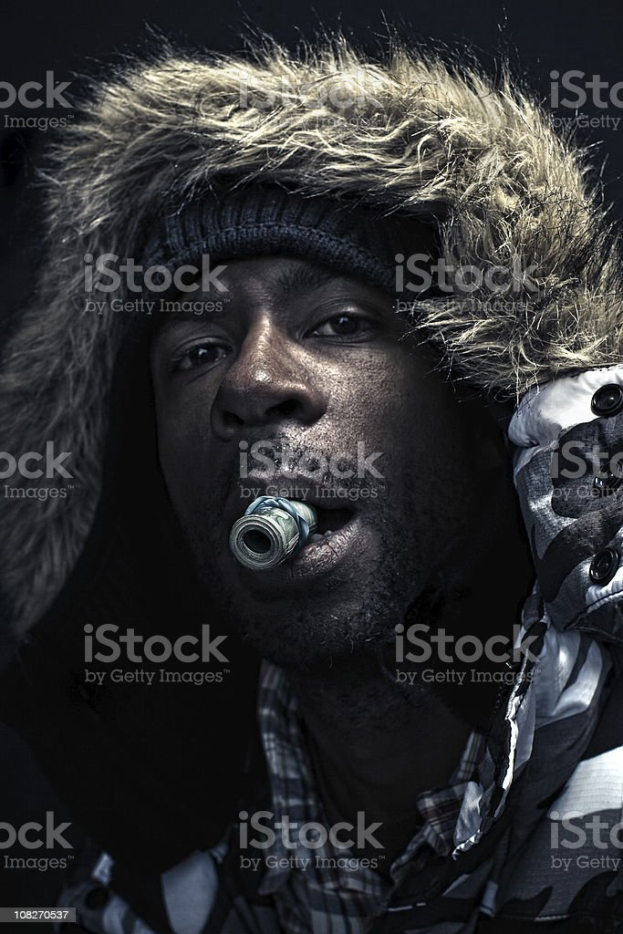 the winter pimp stock photo