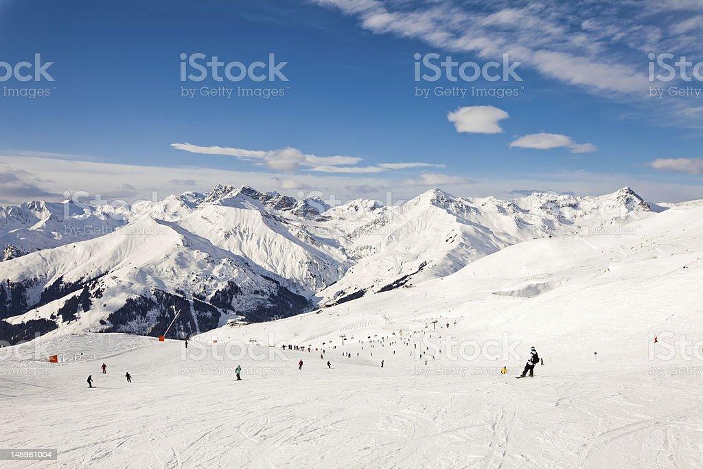 The winter resort Mayrhofen, Austria stock photo