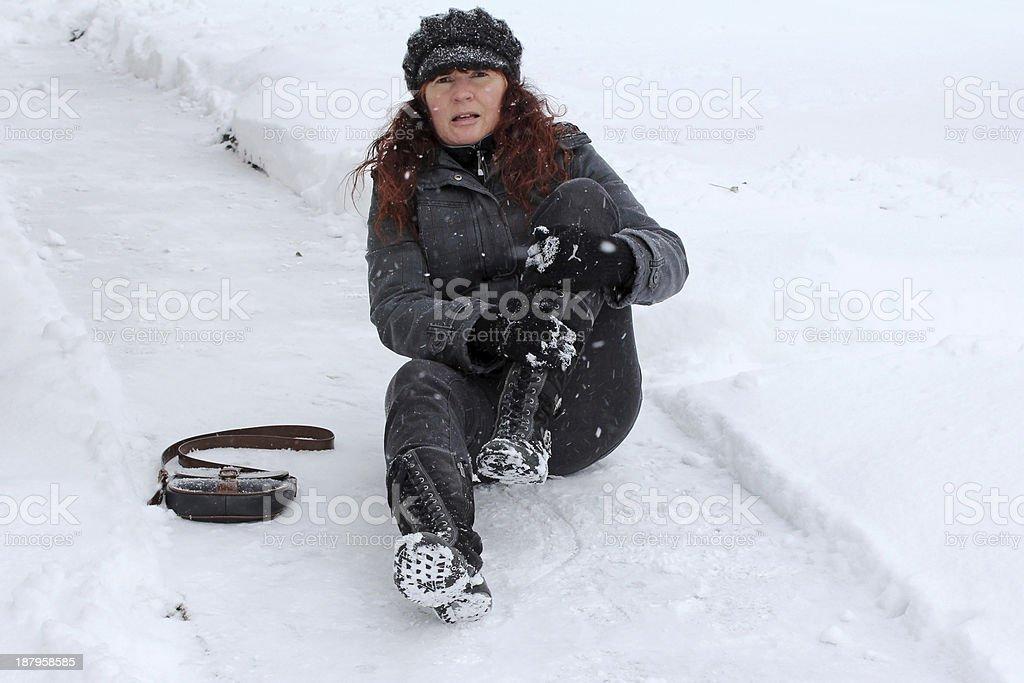 The winter street stock photo