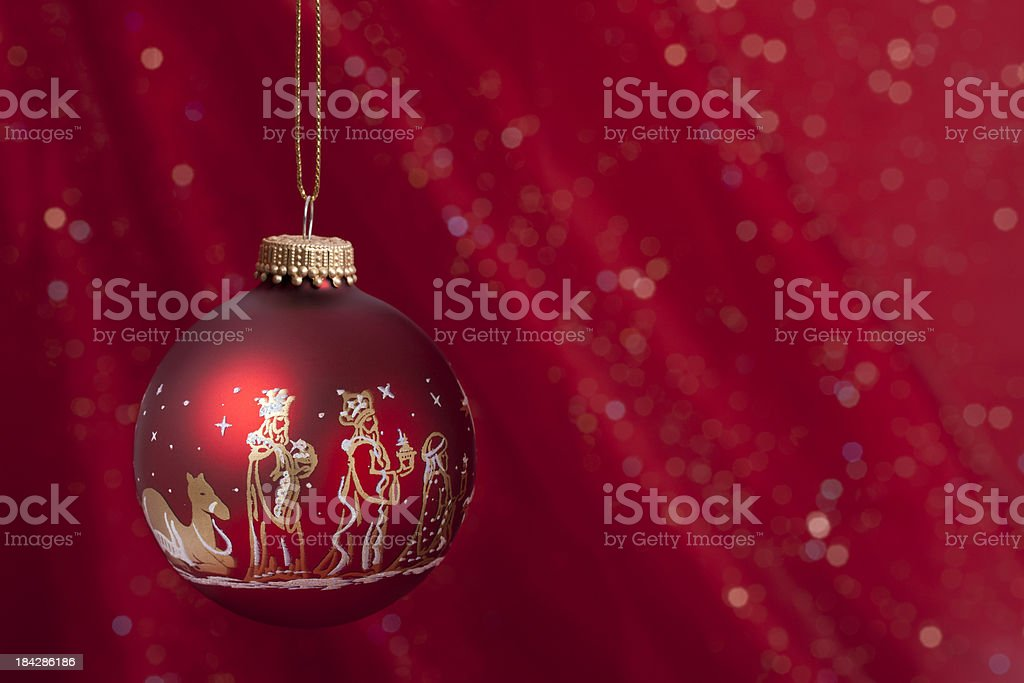 The Wisemen Christmas Ornament stock photo
