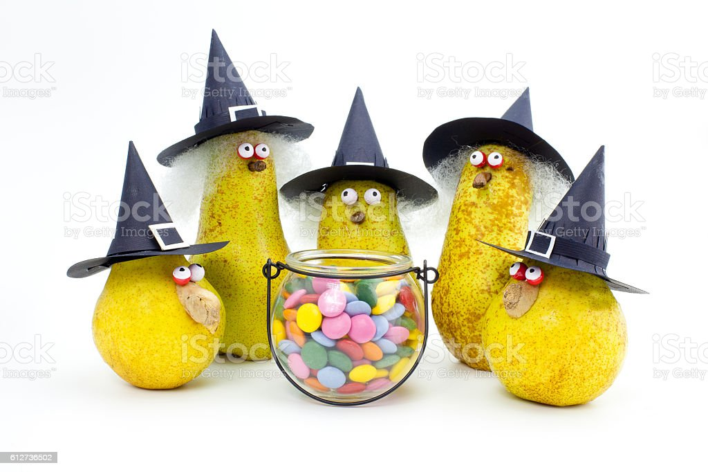 The Witch Pear - Halloween Series stock photo